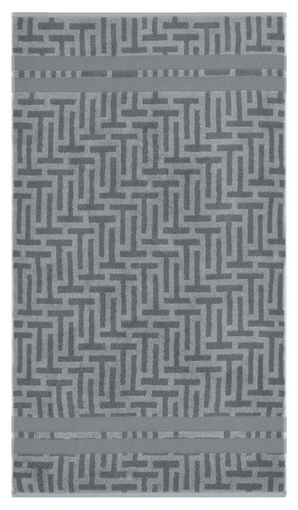 TESSELLATING T GREY BATH TOWEL 70X125CM