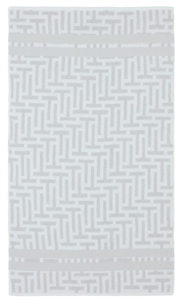 TESSELLATING T WHITE BATH TOWEL 70X125CM