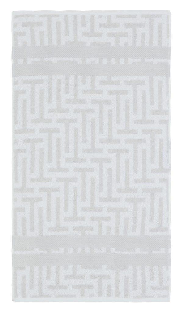 TESSELLATING T WHITE HAND TOWEL 50X90CM